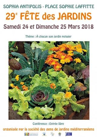 29e Fête des Jardins de Sophia Antipolis  les 24-25 mars 2018 (région PACA)