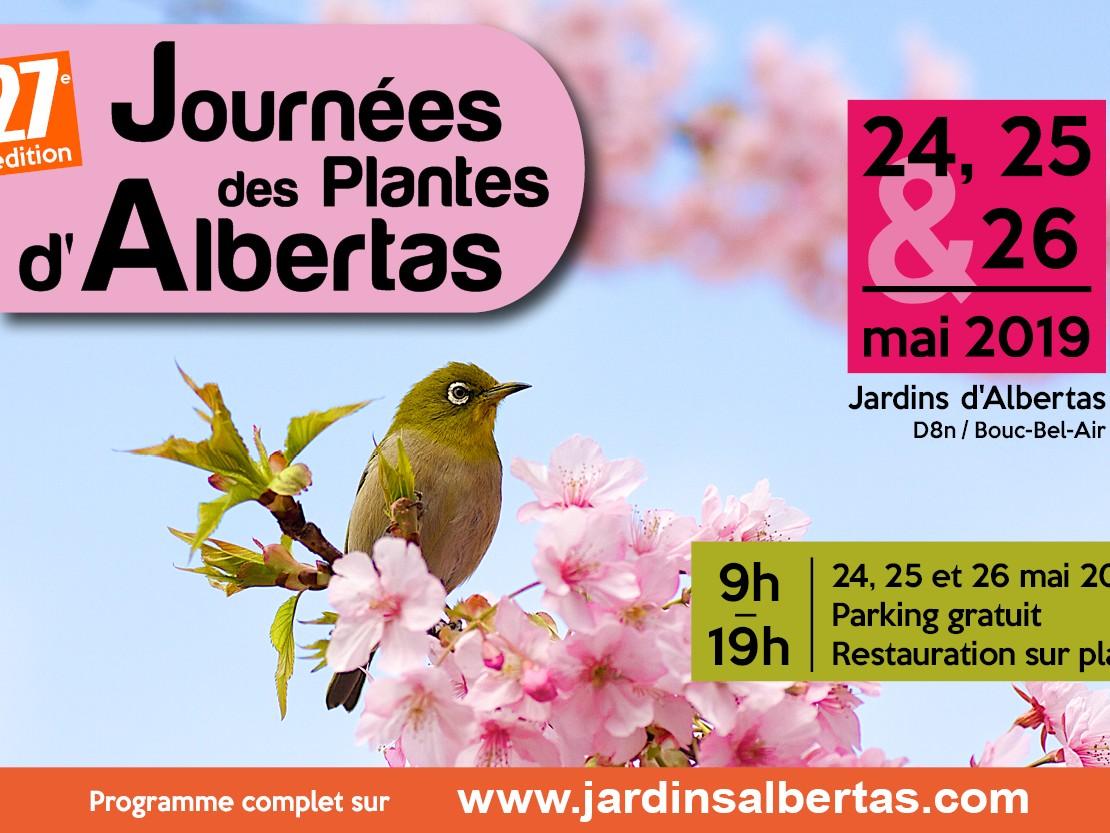 Les 24, 25 et 26 mai 2019 : 27e édition des Journées des Plantes d'Albertas