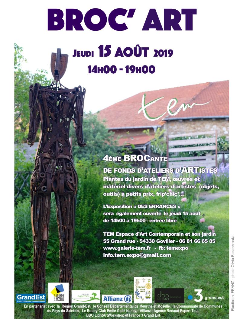 Broc'ART 4ème  brocante de fonds d'ateliers d'artistes dans le jardin de tEM