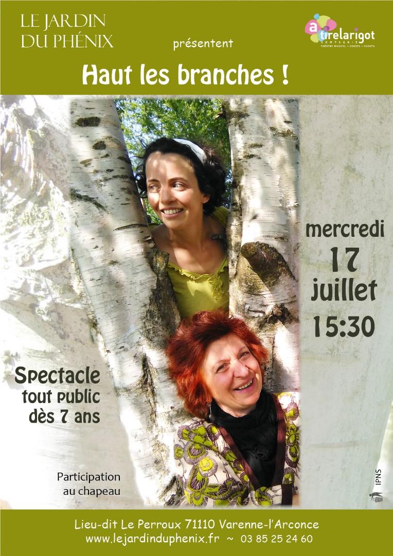 """Spectacle """"Hauts les branches"""" au jardin"""