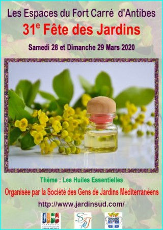 31e Fête des Jardins aux Espaces du Fort carré à Antibes les 28/29 mars 2020