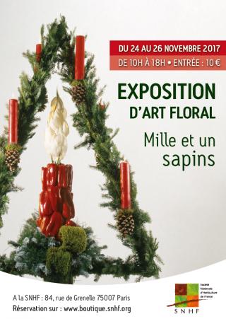 Exposition d'art floral : mille et un sapins