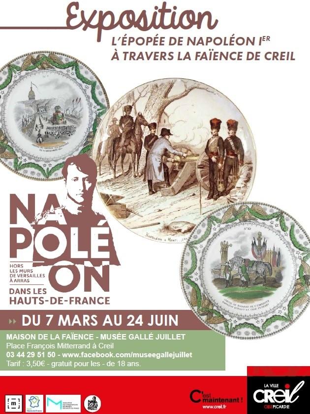 Exposition L'épopée de Napoléon Ier à travers les faïences de Creil