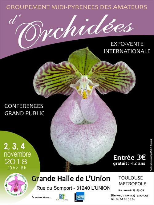 Exposition vente Internationale d'Orchidées à Toulouse